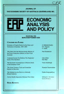 Economic Analysis and Policy Book