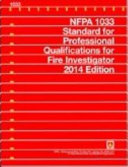 Cover of NFPA 1033, Standard for Professional Qualifications for Fire Investigator