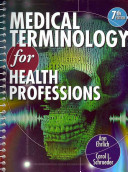 Medical Terminology for Health Professions  Book Only  Book