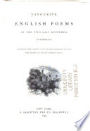 Favourite English Poems of the Last Two Centuries