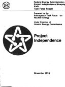 Project Independence Blueprint  Interagency Task Force on Nuclear Energy  Nuclear energy