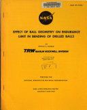 Effect of Ball Geometry on Endurance Limit in Bending of Drilled Balls Book PDF