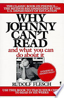 Why Johnny Can t Read