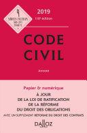 Code civil 2019, annoté