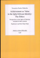 Achievement as Value in the Igbo African Identity