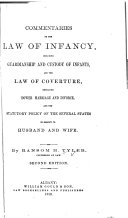 Commentaries on the Law of Infancy