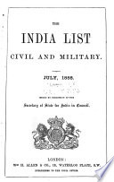 The India Office and Burma Office List Book