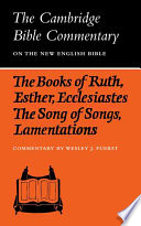 The Books of Ruth  Esther  Ecclesiastes  The Song of Songs  Lamentations  The Five Scrolls
