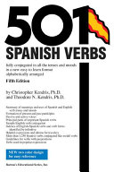 Cover of Five Hundred and One Spanish Verbs
