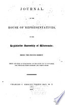 Journal Of The House Of Representatives Of The Legislative Assembly Of Wisconsin