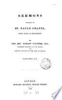 Sermons Preached In St Paul S Chapel Marylebone