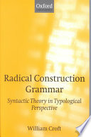 Radical Construction Grammar Book