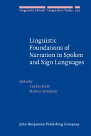 Linguistic Foundations of Narration in Spoken and Sign Languages