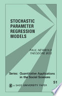 Stochastic Parameter Regression Models