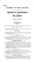 Minutes of Proceedings     1st Senate  1st Parliament  1st Session  Book