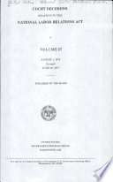 Court Decisions Relating to the National Labor Relations Act Book
