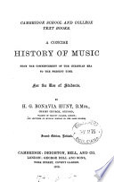 A concise history of music Book
