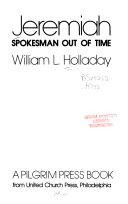 Jeremiah  Spokesman Out of Time Book