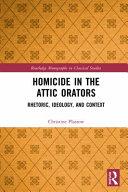 Homicide in the Attic Orators