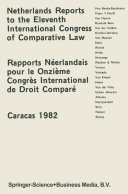 Pdf Netherlands Reports to the XIth International Congress of Comparative Law Caracas 1982 Telecharger