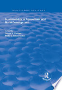 Sustainability in Agricultural and Rural Development