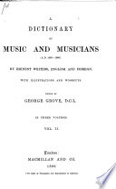 A    Dictionary of Music and Musicians  A D  1450 1883      Book PDF