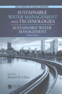 Sustainable Water Management and Technologies  Two Volume Set Book