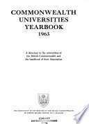 Commonwealth universities yearbook