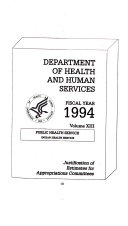 Department of the Interior and Related Agencies Appropriations for 1994  Justification of the budget estimates  Indian Health