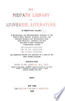The Ridpath Library of Universal Literature ...