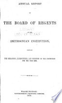 Annual Report Of The Board Of Regents Of The Smithsonian Institution Book PDF