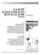 Early Childhood Education 93 94 Book