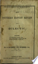 The Southern Baptist Review and Eclectic Book