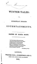 Pdf Winter tales: or, European nights' entertainments. Edited by Maria Scott