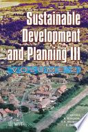 Sustainable Development and Planning III