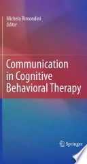 Communication in Cognitive Behavioral Therapy Book