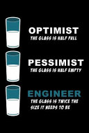 Optimist the Glass Is Half Full Pessimist the Glass Is Half Empty Engineer the Glass Is Twice the Size It Needs to Be