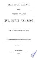 Report of the United States Civil Service Commission Book