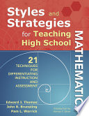 Styles And Strategies For Teaching High School Mathematics