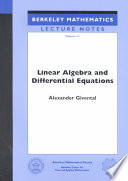 Linear Algebra and Differential Equations