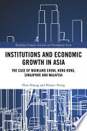 Institutions And Economic Growth In Asia
