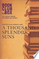 Bookclub in a Box Discusses Khaled Hosseini's Novel a Thousand Splendid Suns