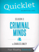 Quicklet on Criminal Minds Season 3  CliffsNotes like Summary  Analysis  and Commentary
