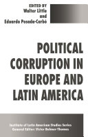 Pdf Political Corruption in Europe and Latin America Telecharger