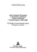 Jean Jacques Rousseau in American Literature