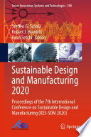 Sustainable Design and Manufacturing 2020 Book