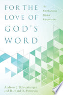 For the Love of God   s Word Book
