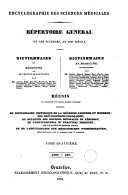 Encyclographie des sciences médicales. Répertoire général de ces sciences, au XIXe siècle