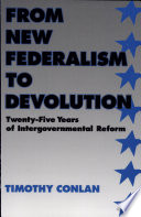 From New Federalism to Devolution