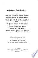 Shakespeare Jest Books Reprints Of The Early Very Rare Jest Books Supposed To Have Been Used By Shakespeare